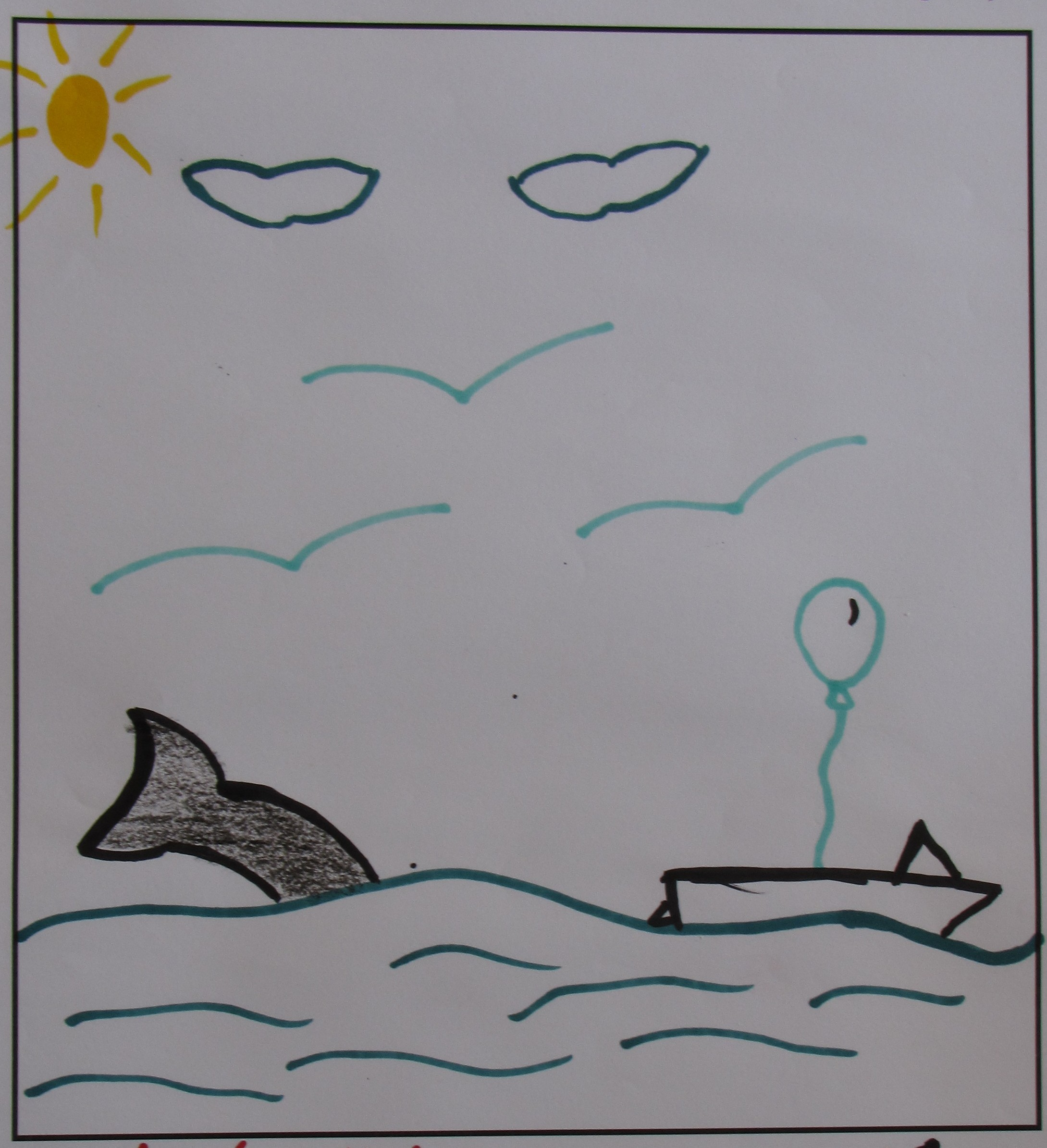 'Cool Whale' by Tredyn Kohm, Age 13.