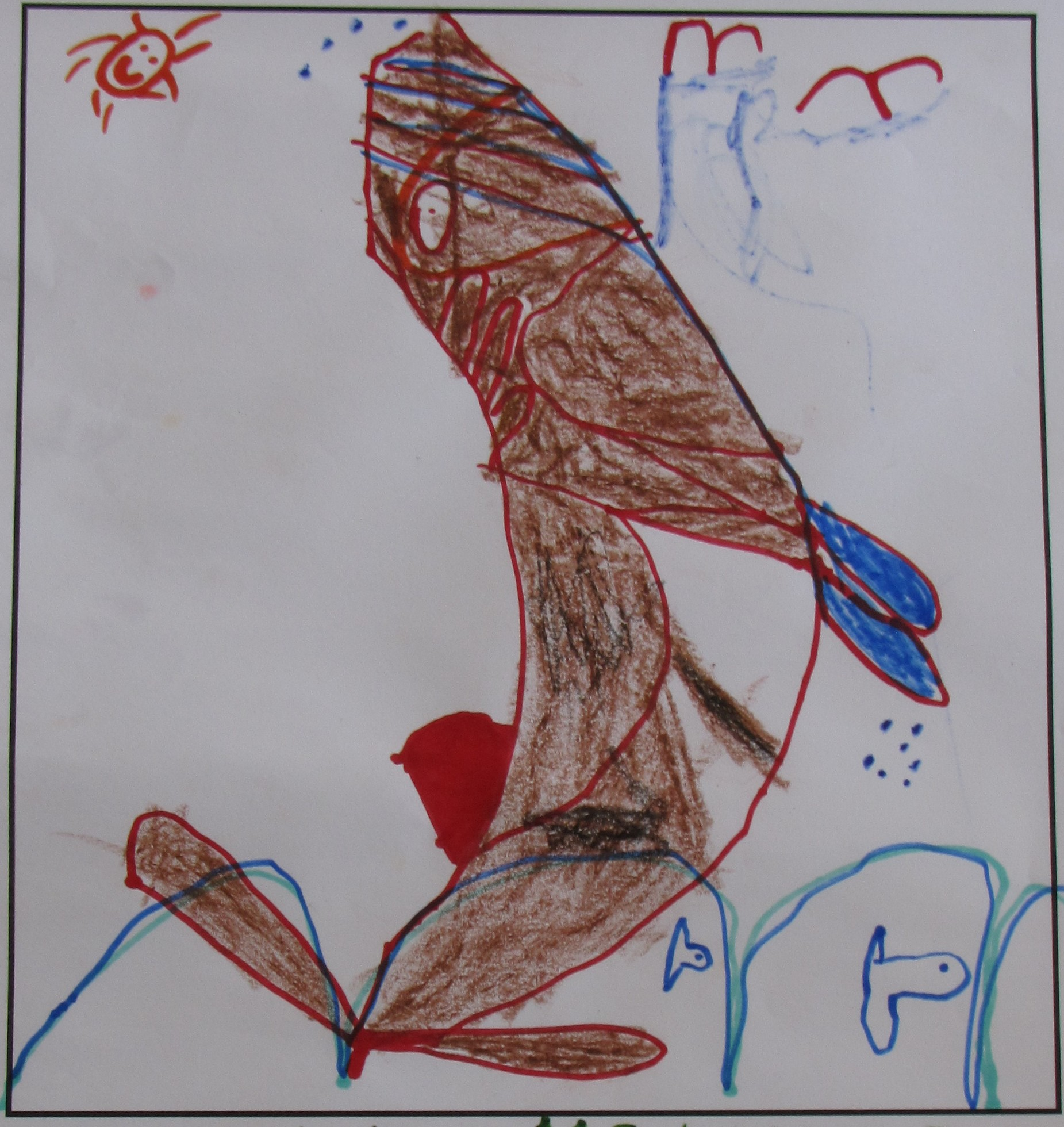 'Whale Time' by Hector McNeill, Age 5.
